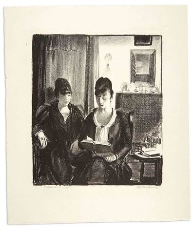 George Wesley Bellows, 'ELSIE READING TO EMMA, NO. 2 (MASON 105)', 1921