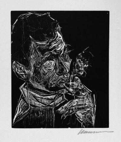 Karl-Heinz HANSEN-BAHIA, 'Selbstbildnis, rauchend / Self-Portrait, Smoking', 1960