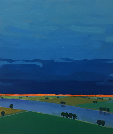 John Karl Claes, 'Primary Landscape (Blue)'