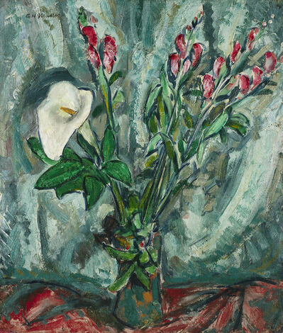Alfred H. Maurer, 'Floral Still Life with Calla Lily'