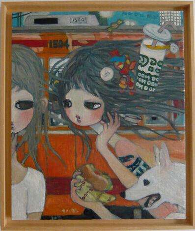 Aya Takano, 'Fast Food, Gossip, and Trains', 2012