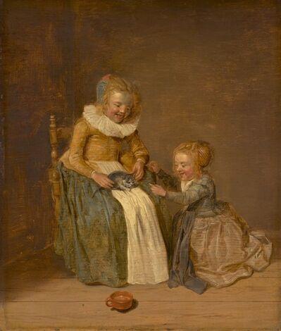 Dirck Hals, 'Children with a Cat', 1631