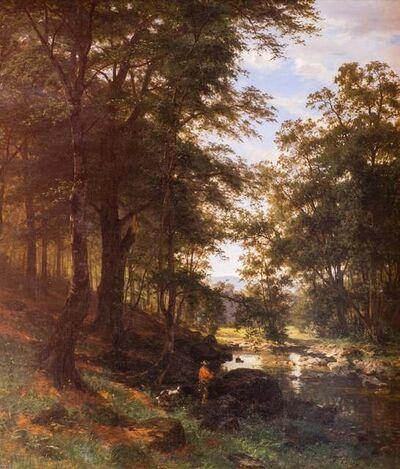 Fritz Ebel, 'Idyllic Scene in a Beech Grove', 1868