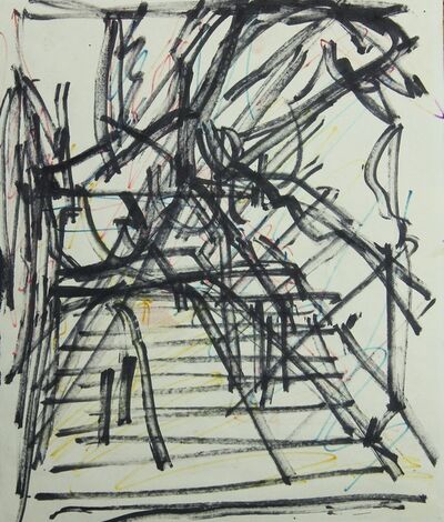 Frank Auerbach, 'Study for St. Pancras Steps', 1979