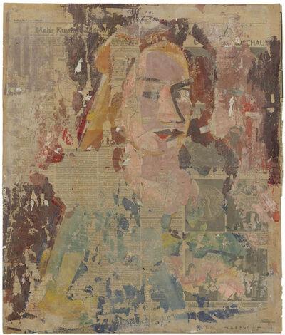 Hermann Glöckner, 'Kopf einer Frau vor farbigem Grund', 1949