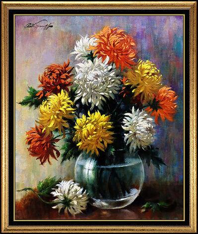 Arthur Sarnoff, 'Arthur Sarnoff Original Oil Painting On Canvas Illustration Still Life Artwork', 20th Century