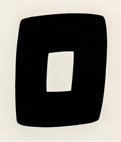 Ellsworth Kelly, 'Black with White A.9', 1964