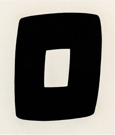 Ellsworth Kelly, 'Black with White A.9', 1964