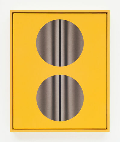 John Opera, 'Double Lens (Yellow with lines)', 2018
