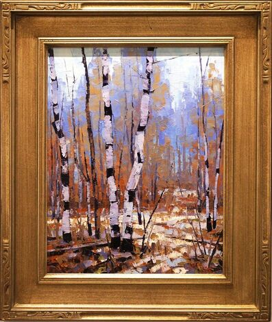 Douglas Aagard, 'Original Tree Painting 'Soft Winter' Aspen Trees Artwork, Mountain Landscape Art', 2017