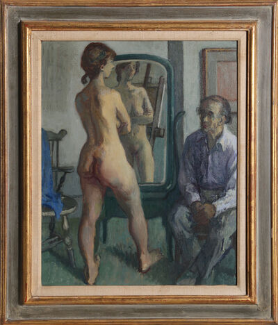 Moses Soyer, 'H.G. (Harry Gottlieb) with Standing Nude', ca. 1950