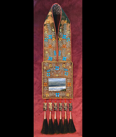 Barry Ace, 'Bandolier for Gichi-aazhoogami (Lake Huron) (Great Crosswaters Sea)', 2019