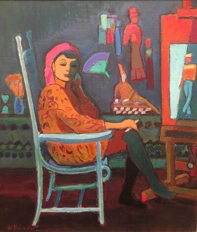 Joseph O'Sickey, 'Algesa in Turquoise Chair', 1988