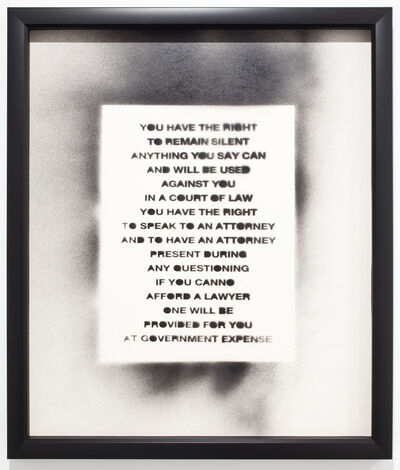 UBIK (b. 1985), 'Pledge of Allegation', 2011