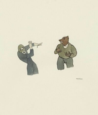 Marcel Dzama, 'Scared Wolfman', 1998
