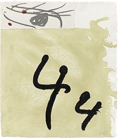 Antoni Tàpies, 'Aiguafort amb collage', 1989