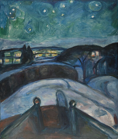 Edvard Munch, 'Starry Night', 1922-1924