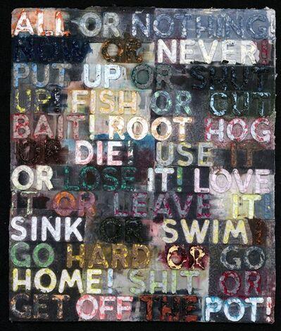 Mel Bochner, 'All or Nothing', 2015