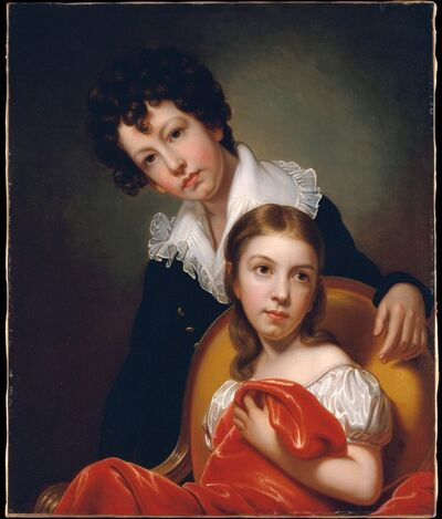 Rembrandt Peale, 'Michael Angelo and Emma Clara Peale', ca. 1826