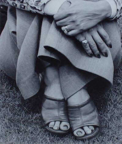 David Goldblatt, 'Woman at picnic, Zoolake, Johannesburg', 1975