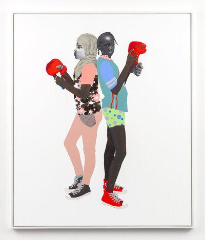 Deborah Roberts, 'Red, White and Blue', 2018