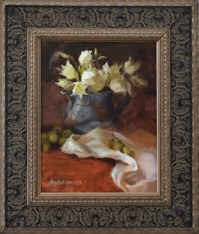 Mary Beth Karaus, 'Yucca in Silver Pitcher'