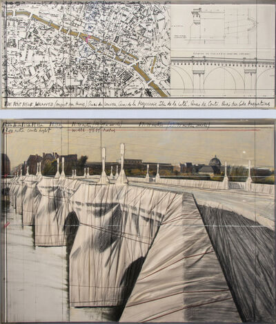 Christo and Jeanne-Claude, 'The Pont-Neuf, Wrapped (Project for Paris)', 1985
