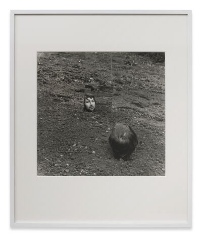 Keith Arnatt, 'Self-Burial with Mirror', 1969