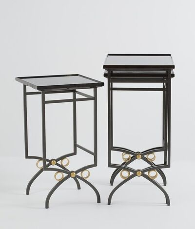 Maison Leleu, 'Set of Three Nesting Tables', ca. 1950