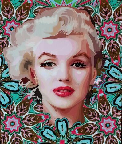 Elisabetta Fantone, 'Marilyn Monroe (Turquoise) ', 2018