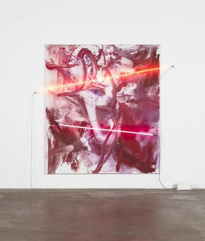 Mary Weatherford, 'Smoke Blossom Exploding Bamboo', 2019