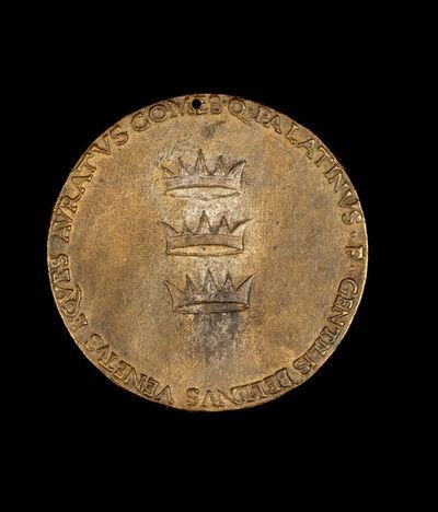 Gentile Bellini, 'Three Crowns: Constantinople, Iconium, and Trebizond [reverse]', ca. 1480