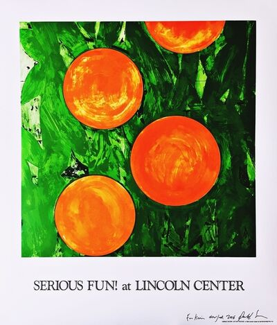 Donald Sultan, 'Serious Fun! at Lincoln Center (Hand Signed)', 1993