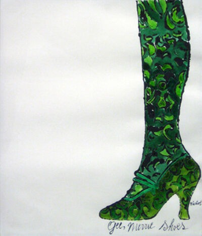 Andy Warhol, 'Gee, Merrie Shoes (Green)', 1956