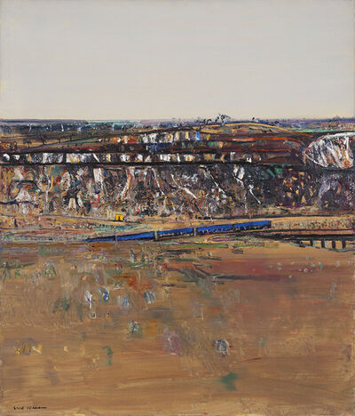 Fred Williams, 'Lilydale Landscape with Blue Train', 1974
