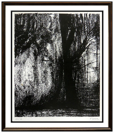 Henry Moore, 'Henry Moore Original Lithograph Hand Signed Abstract The Forest Landscape Art', 1973