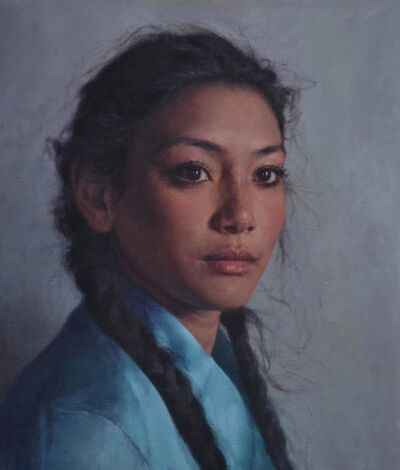 Alex Russell Flint, 'Amba in Blue', 2017