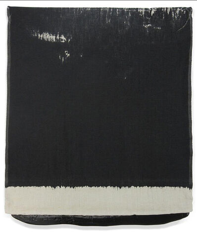 Analía Saban, 'Pressed Paint (Mars Black)', 2017