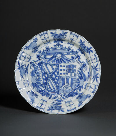 Unknown Artist, 'Plate with the arms of García Hurtado de Mendoza y Manrique and Teresa de Castro y de la Cueva', 1588-1593