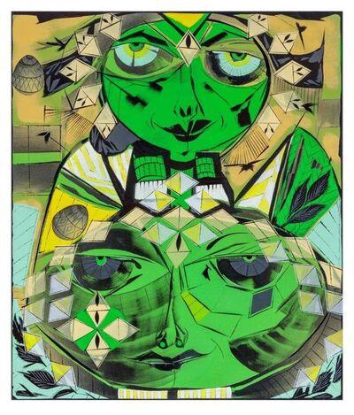 "Lari Pittman, '""Self-determination #2"" (greens)', 2017"