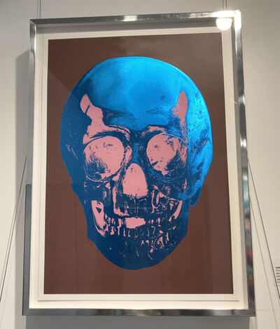 Damien Hirst, 'Till Death Do Us Part - Milk Chocolate Brown True Blue Bubblegum Pink Skull', 2012