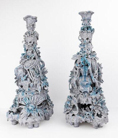 Anthony Sonnenberg, 'Pair of Candelabras (Dentyne Ice)', 2017