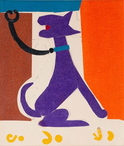 Benode Behari Mukherjee, 'Dog with Leash', 1965