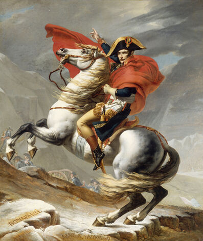 Jacques-Louis David, 'Napoleon Crossing the Saint-Bernard', 1801-02
