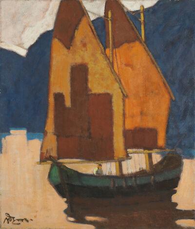 Artur Nikodem, 'Sailing Boat on the Lake Garda', 1934