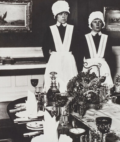 Bill Brandt, 'Parlourmaid and Underparlourmaid Ready to Serve Dinner', 1936