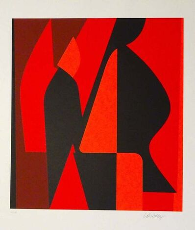 Victor Vasarely, 'Mixed Red Composition', 1989