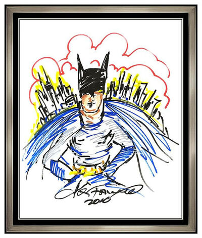 Charles Fazzino, 'CHARLES FAZZINO Large ORIGINAL ACRYLIC PAINTING Signed Batman Gotham Framed Art', 2010