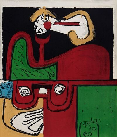 Le Corbusier, 'Portrait', 1960