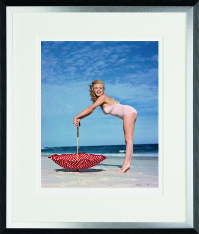 André de Dienes, 'Polka Dot Umbrella, Torbay Beach, 1949', 2014